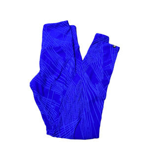 Onzie Mesh Woven Textured Lifting Leggings Womens Size XS Bright Blue